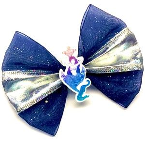 Ombre Glitter Nautical Mermaid Hair Bow